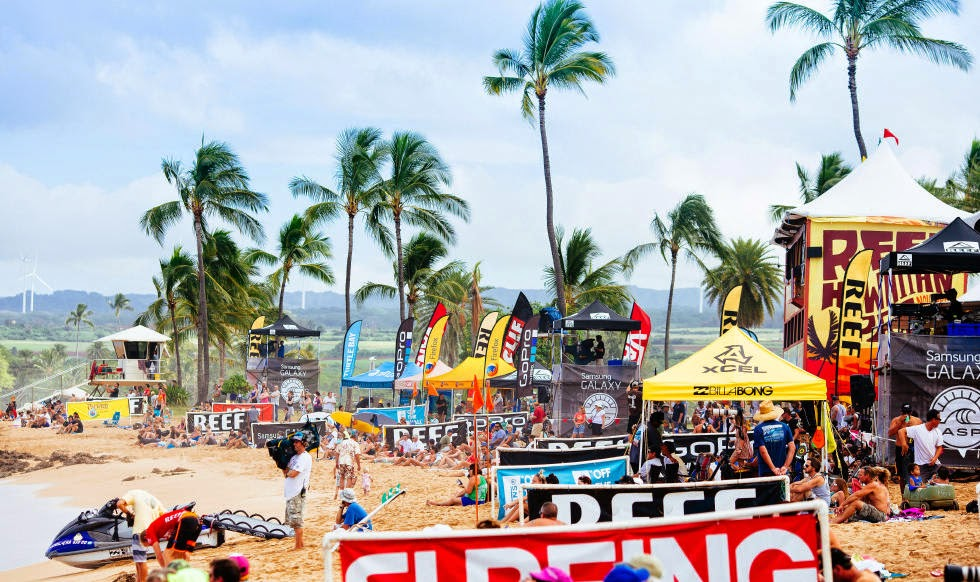 30Reef Hawaian Pro 2014 Beach at Lunchtime Foto ASP Kelly Cestari