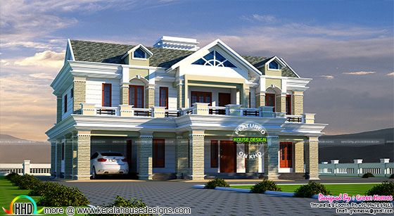 2950 sq-ft modern decorative house