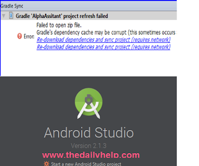 Gradle Dependency Cache May Be Corrupt Error In Android Studio