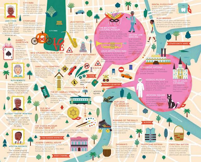 50 Cities of the U.S.A. nola layout closeup 1