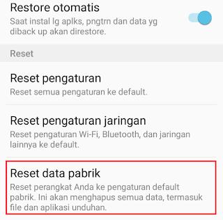 Reset data pabrik samsung