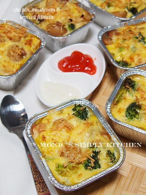 resep fritata ayam jamur dan brokoli