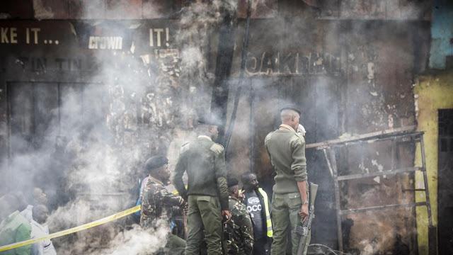 Al menos 15 muertos y 70 heridos al incendiarse un mercado popular en Kenia