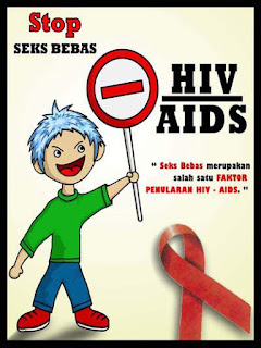 contoh poster hiv aids
