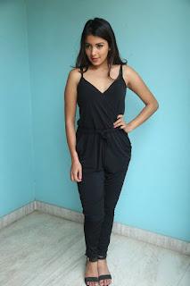 Actress Latha Hegde Stills in Black Dress at Tuntari Movie Interview  0053.jpg