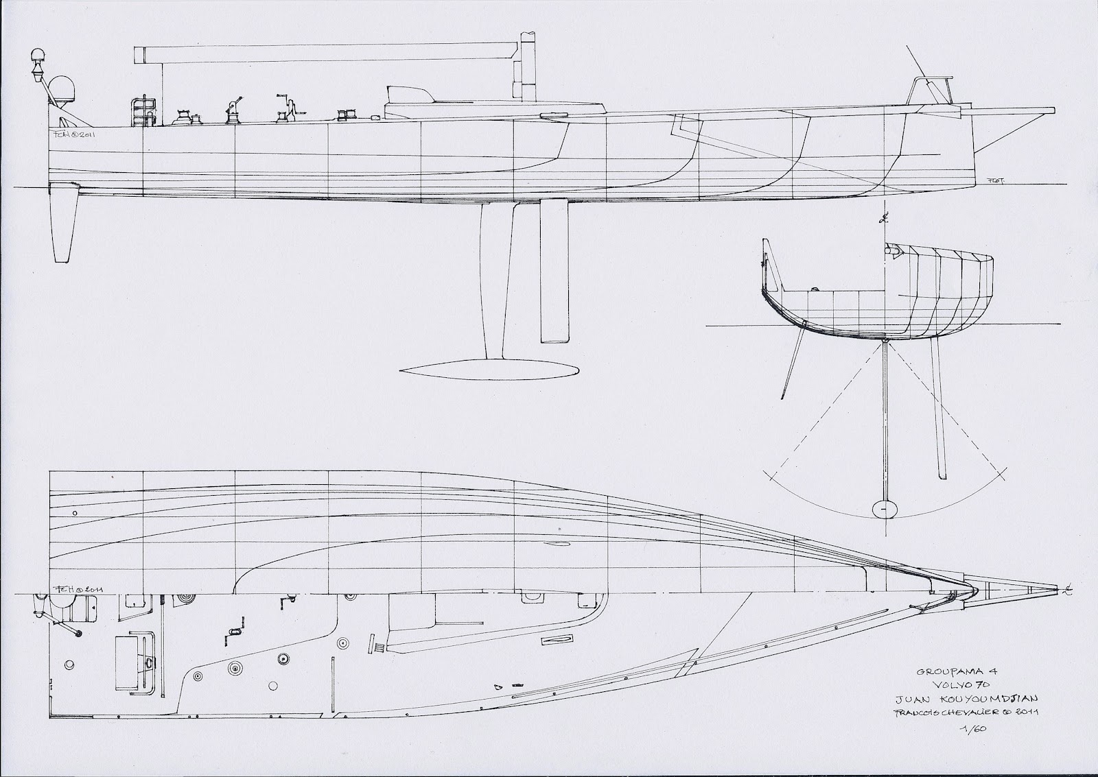 chevalier taglang volvo ocean race drawings and design evolution updated 2014 volvo one design [ 1600 x 1133 Pixel ]