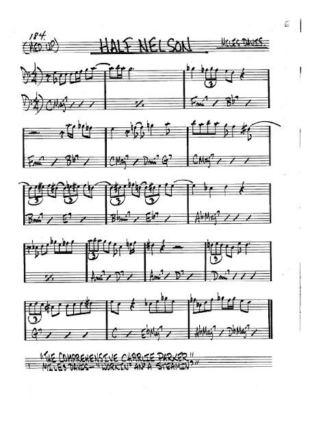 Partitura Trombón Miles Davis