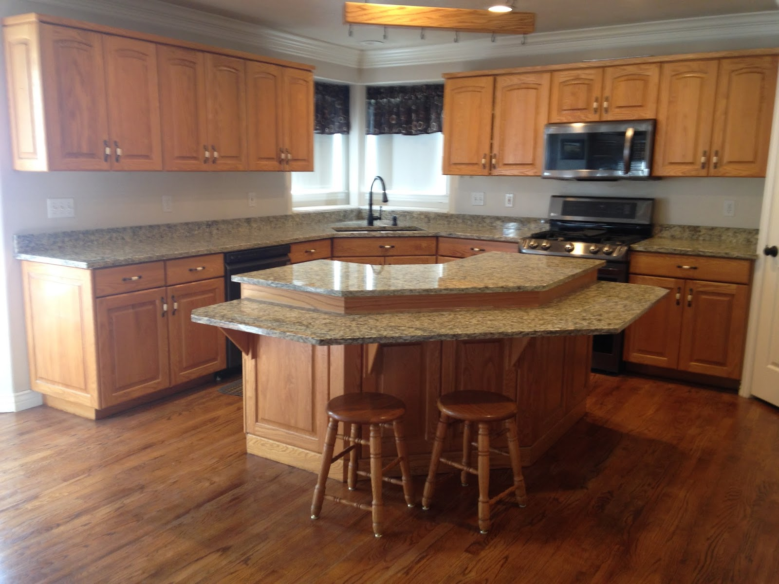 This is a wonderful way to change up the kitchen and refresh the look, especially when you have wonderful solid wood cabinets.