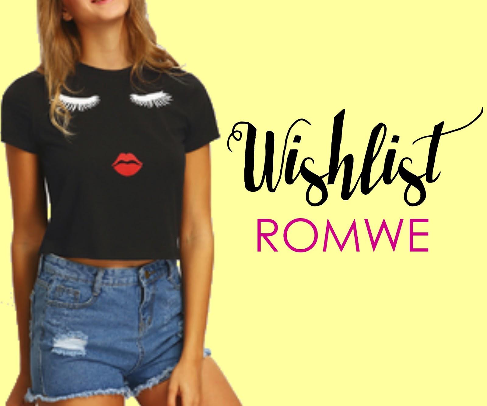 22f0cba12 Wishlist Romwe  Camisetas com Estampas Legais - Garotas Conectadas