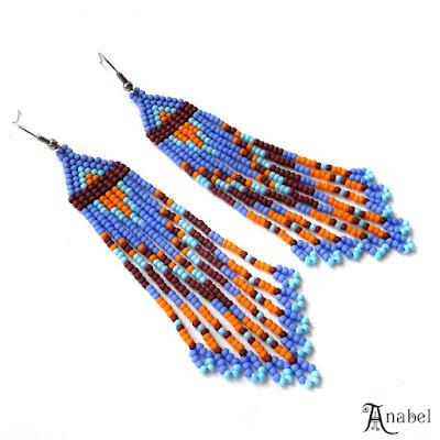 Длинные яркие серьги из бисера купить серьги бижутерия длинные
