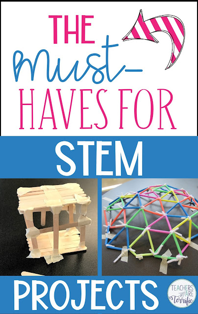STEM Materials that you will need over and over and some project suggestions for each type of material. These are the must-have Materials for STEM!