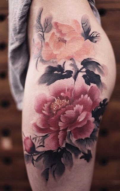 Stunning Flower Watercolor Tattoos