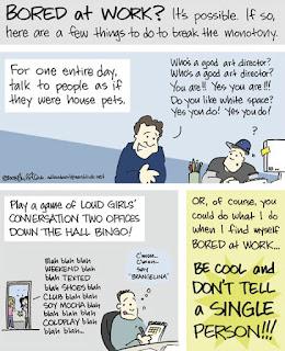 Tips Siasati Suntuk di Kantor