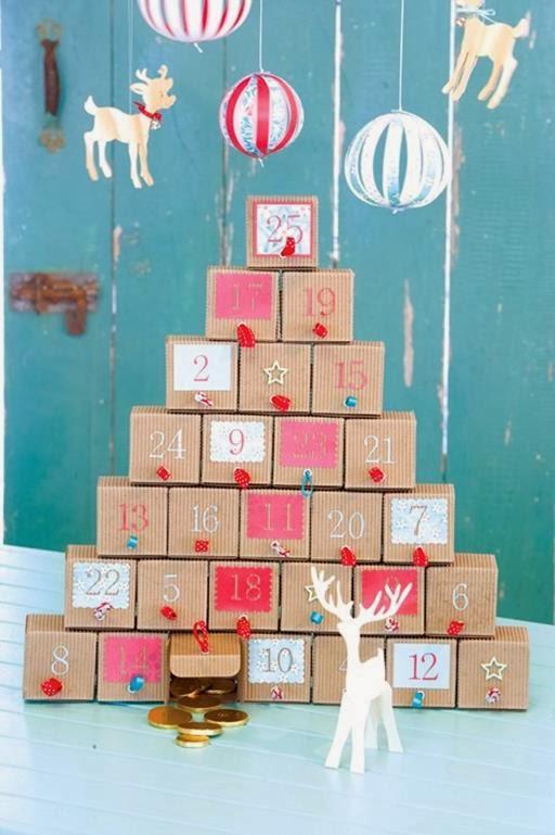 kalendarz adwentowy pudełka, choinka