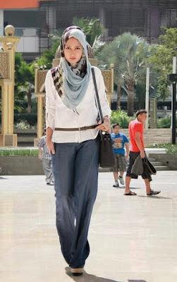 Model baju muslim trendy casual