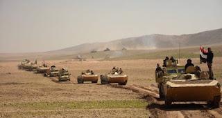الحشد الشعبي يقتل ٢٠ من عناصر داعش بتدمير أربعة مواقع دفاعية لهم شرق تلعفر