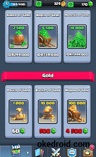 Gold and Gem Clash Royale