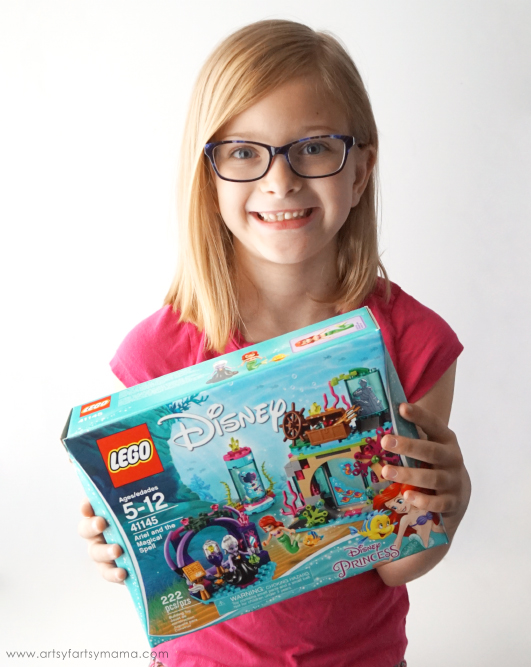 Explore the secrets of the sea with Ariel and Flounder with LEGO Disney Ariel and the Magical Spell and Free Printable Little Mermaid Coloring Word Search