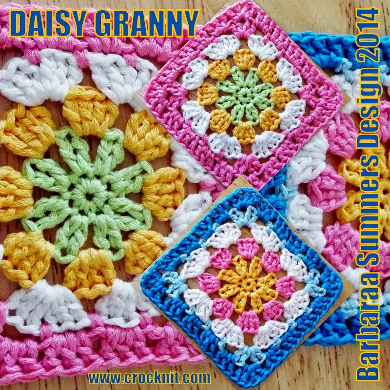 free crochet patterns, granny squares, daisy granny, how to crochet, afghans,