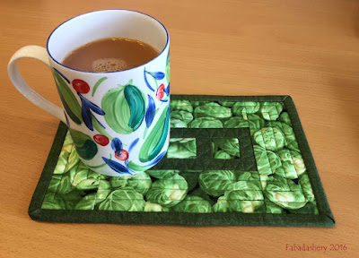 Vegetable - Brussel Sprout Mug Rug