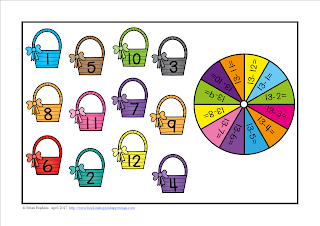 FREEBIE Easter Subtracting from 13 Bump