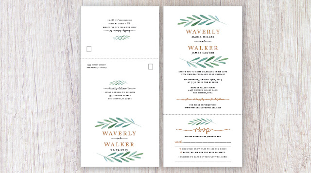 Waverly Garden Wedding Invitation