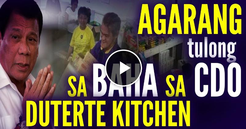 Duterte's Kitchen agarang TULONG sa mga nasalanta ng Baha