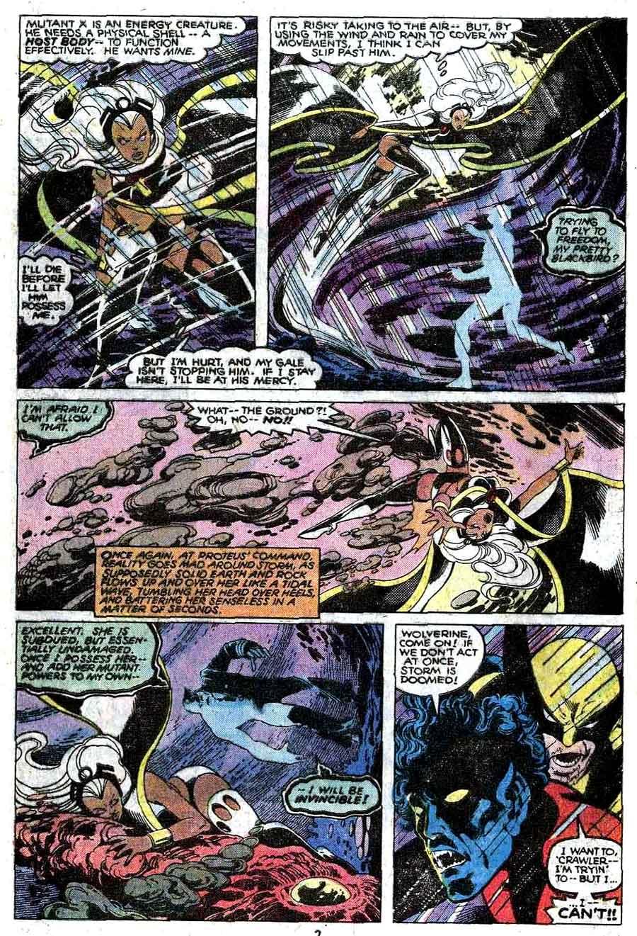 X-men v1 #127 marvel comic book page art by John Byrne