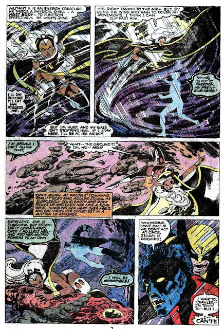 X-men v1 #127 marvel comic book page art by John Byrne