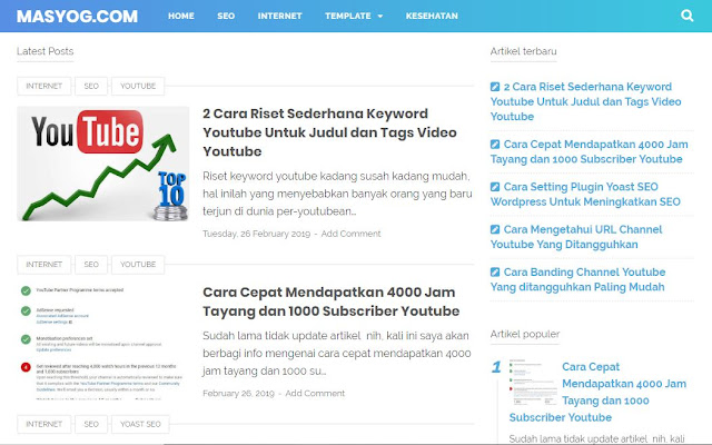 Review Template Blogspot Premium Paling SEO Friendly
