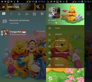 Tema BBM MOD Winnie the Pooh v3.3.0.16 APK