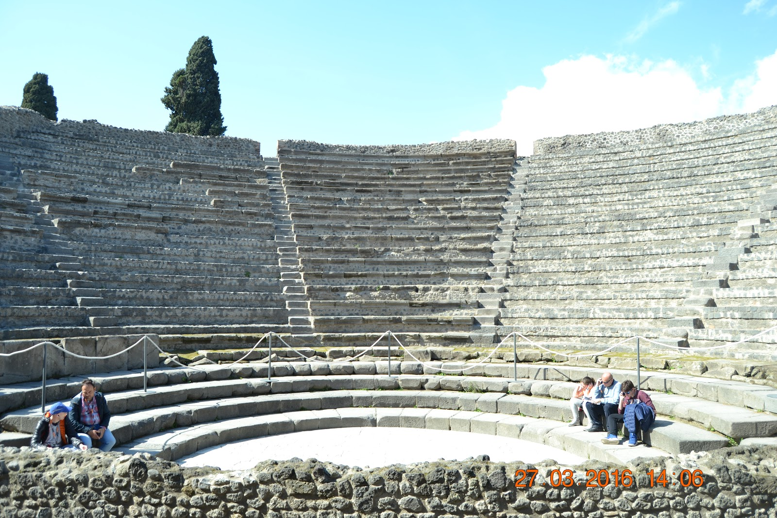 Forum of the Pompeii where arts were practiced