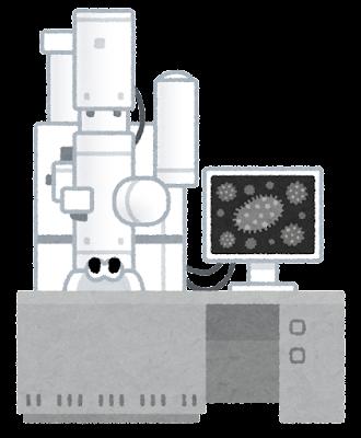 透過型電子顕微鏡のイラスト