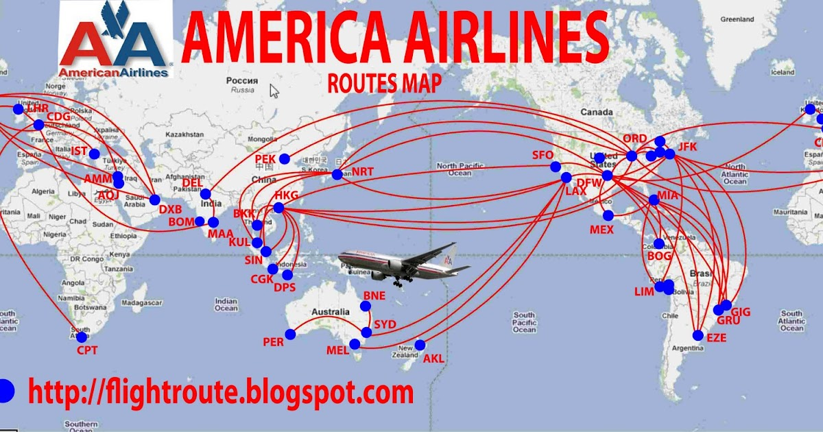Airlines American Airlines Routes Map