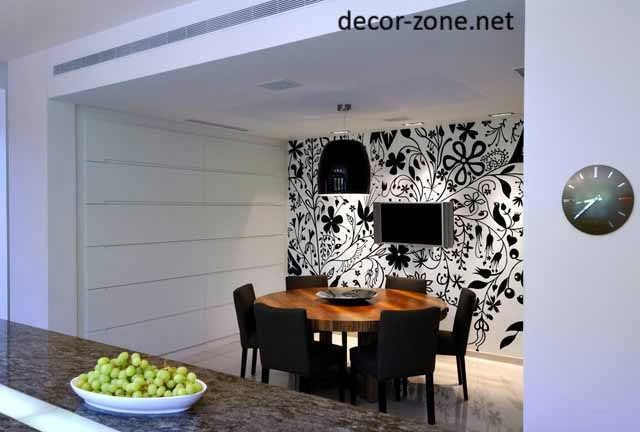 creative kitchen wallpaper ideas for dinning area