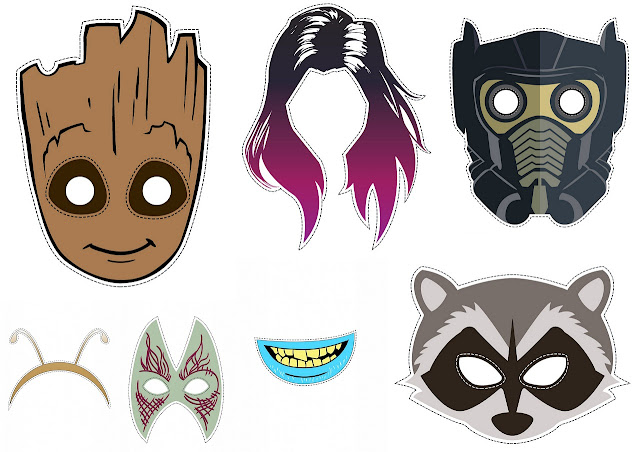 Masks of the Guardians of the Galaxy.