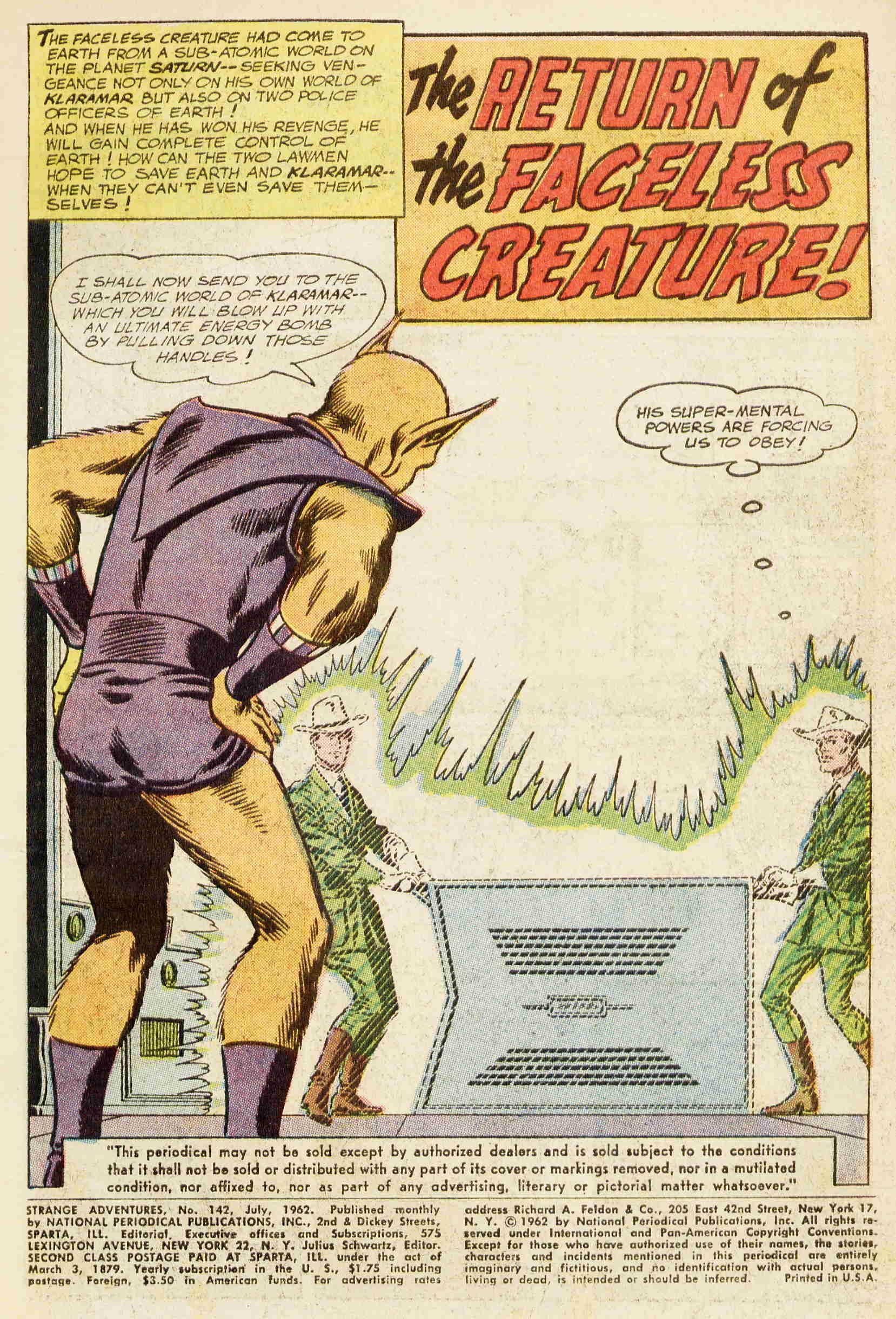 Strange Adventures (1950) issue 142 - Page 3