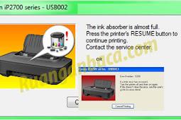 Begini cara Memperbaiki E5200 Printer Canon ip2770 dengan mudah