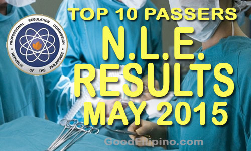 May 2015 TOP 10 NLE Board Passers - NLE List of Passers (May 2015)