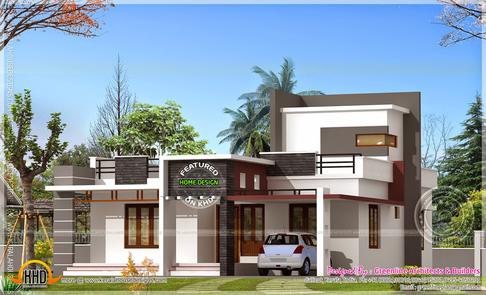 3 Bedroom House In 1568 Sq Feet Home Kerala Plans