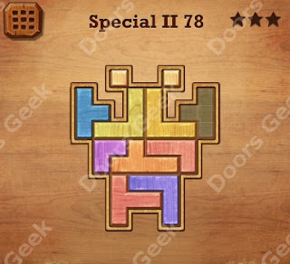 Cheats, Solutions, Walkthrough for Wood Block Puzzle Special II Level 78