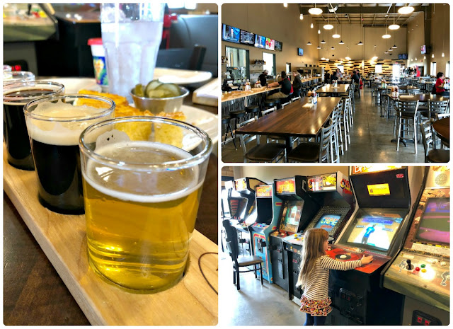 If the grown-ups happen to be craft beer lovers & the kiddos love a good old-fashioned arcade game, then head to Rivertown Brewery & Barrel House In Monroe, Ohio any given Monday between 5:30-7:30PM for their Family Funday.