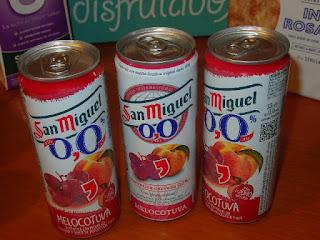 San Miguel 0,0 Melocotuva.