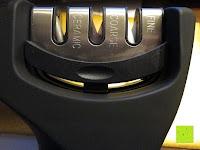 Schärfer einsetzen: E-PRANCE® Messerschärfer Messerschleifer Knife Sharpener mit 3 Stufen