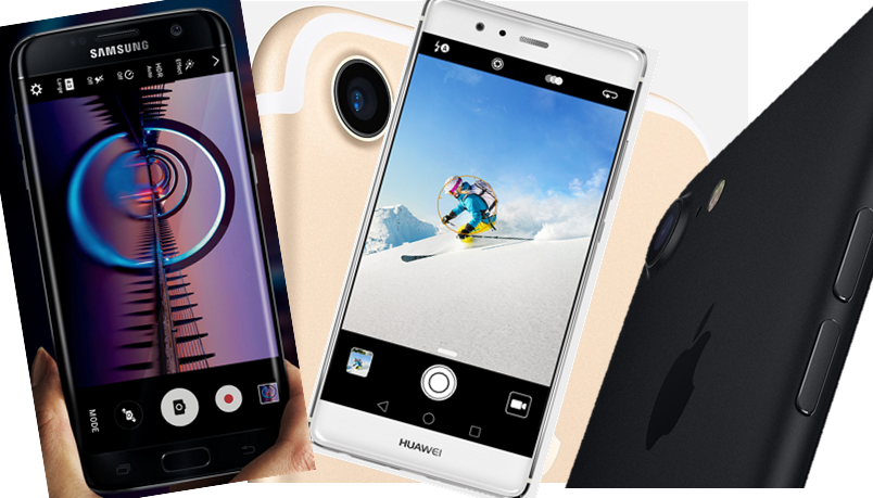Samsung S7, Apple iPhone 7 Plus and Huawei P9 go head-to-head on a camera battle