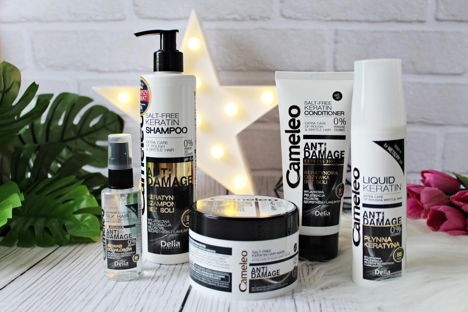 Zestaw do pielęgnacji włosów z keratyną bez soli DELIA Cameleo ANTI DAMAGE