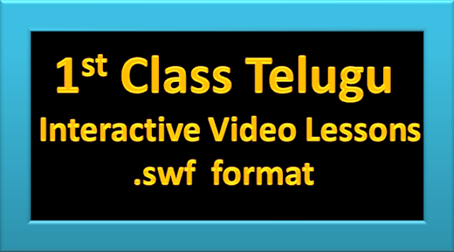 Interactive video Lessons for 1st Class Telugu Students (www.naabadi.org)