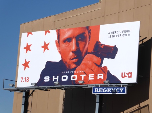 Shooter season 2 TV billboard