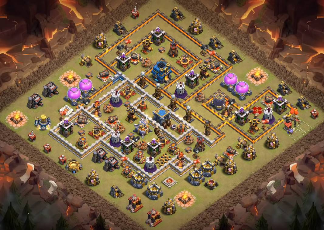 excellent town hall 12 war base layout