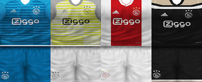 PES 6 Kits Ajax Amsterdam Season 2018/2019 by VillaPilla